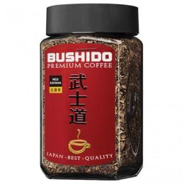 Кофе растворимый BUSHIDO Red Katana, сублимированный, 100 г, 100% арабика, стеклянная банка, BU10009014
