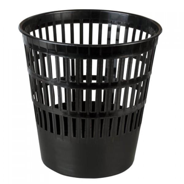 Корзина для бумаг БОЛЬШАЯ, 16 л, сетчатая, черная, BRAUBERG-MAXI, 231165
