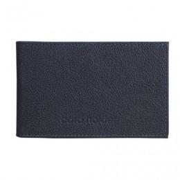 Визитница карманная BEFLER Грейд, на 40 визиток, натуральная кожа, тиснение, синяя, K.5.-9