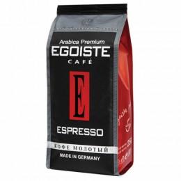 Кофе молотый EGOISTE Espresso, натуральный, 250 г, 100% арабика, вакуумная упаковка, 10228