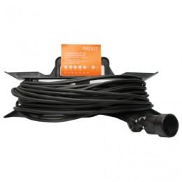 Удлинитель на рамке РАДИСТ РС16, 1 розетка без заземления, 50 м, 2х0,75 мм, 1300 Вт, черный, 107