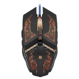 Мышь проводная игровая DEFENDER Halo Z GM-430L, USB, 6 кнопок+1 колесо-кнопка, оптическая, черная, 52430