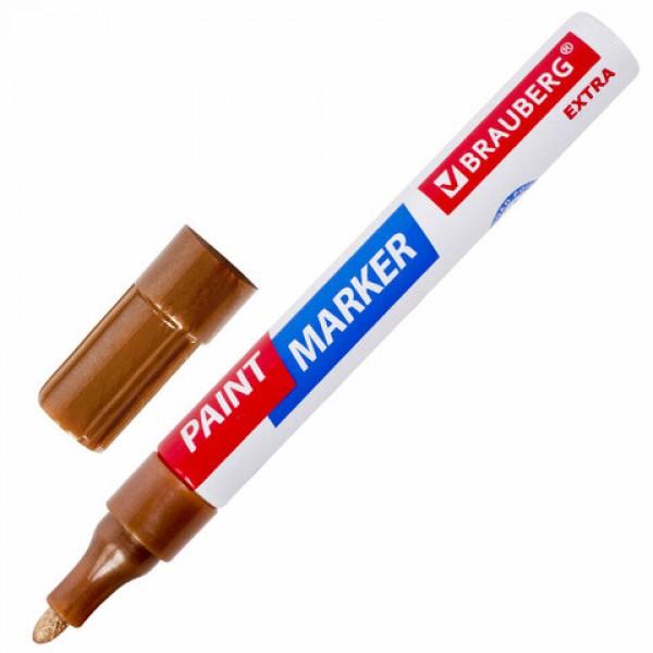 Маркер-краска лаковый EXTRA (paint marker) 4 мм, МЕДНЫЙ УЛУЧШЕННАЯ НИТРО-ОСНОВА, BRAUBERG, 151988