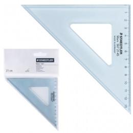 Треугольник пластиковый, угол 45, 12 см, STAEDTLER (Германия) Mars, прозрачный, 567 21-45