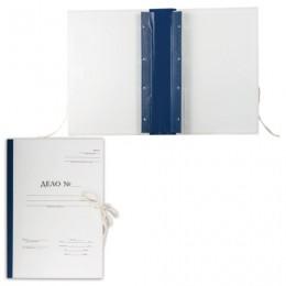 Папка архивная для переплета Форма 21, А4 (320х228 мм), 50 мм, с гребешками, 4 отверстия,завязки, 127132
