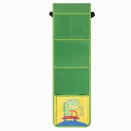 Кармашки-органайзер в шкафчик для детского сада ЮНЛАНДИЯ на резинке, 5 карманов,21х68см, Crocodile, 270413