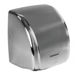 Сушилка для рук SONNEN HD-230S, 2100 Вт, время сушки 20 секунд, нержавеющая сталь, 604195