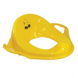 Горшок-накладка на унитаз детская, пластиковая, с ручками, 14х37х41 см, желтая, IDEA, М 2593