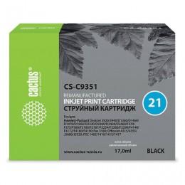 Картридж струйный CACTUS (CS-C9351) для HP Deskjet 3920/3940/officeJet4315, черный 10,4 мл