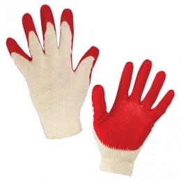 Перчатки хлопчатобумажные 13 класс, 36-38 г, 100 текс, одинарный латексный облив, комплект 5 пар, ЛАЙМА ЛЮКС, 600802