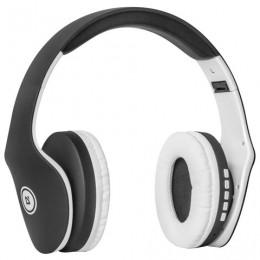 Наушники с микрофоном (гарнитура) DEFENDER FREEMOTION B525, Bluetooth, беспроводные, черные с белым, 63525