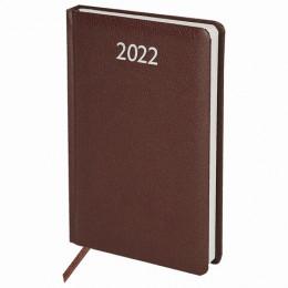 Ежедневник датированный 2022 А5 (138х213мм) BRAUBERG Profile коричневый, к, 112764