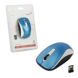 Мышь беспроводная GENIUS NX-7010, 2 кнопки + 1 колесо-кнопка, оптическая, бело-голубая, 31030114110