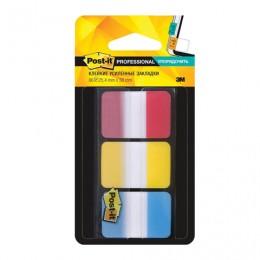 Закладки клейкие POST-IT Professional, пластик, 25 мм, 3 цвета х 22 шт., суперклейкие, 686-RYB-RU