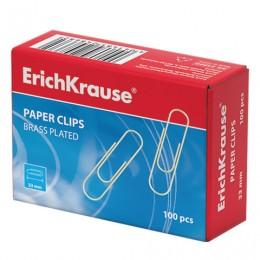 Скрепки ERICH KRAUSE, 33 мм, омедненные, 100 шт., в картонной коробке, 24868