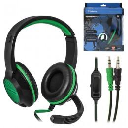 Наушники с микрофоном (гарнитура) DEFENDER Warhead G-200, проводные, 2 м, стерео, чёрно-зелёные, 64119