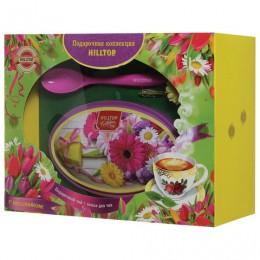 Чай HILLTOP Волшебная луна, черный листовой, 100 г, с ложечкой для чая в подарочной упаковке ЛЕТНИЕ ЦВЕТЫ, I2209