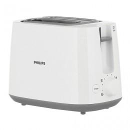 Тостер PHILIPS HD2581/00, 830 Вт, 2 тоста, 8 режимов, подогрев, разморозка, пластик, белый