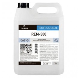 Средство моющее универсальное 5 л, PRO-BRITE REM-300, щелочное, низкопенное, концентрат, 069-5