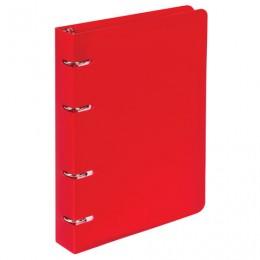 Тетрадь на кольцах А5 (160х215 мм), 80 л., пластиковая обложка, клетка, BRAUBERG, Красный, 403252