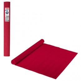 Бумага гофрированная (ИТАЛИЯ) 140г/м, красно-оранжевая (980), 50х250см, BRAUBERG FLORE, 112563