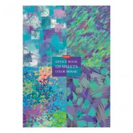 Блокнот в твердом переплете, А4 120л., блок 5 цветов, клетка, HATBER, Color mosaic, 120ББ4В1_22006