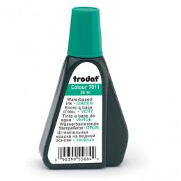 Краска штемпельная TRODAT, зеленая, 28 мл, на водной основе, 52975