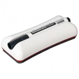Стиратель магнитный для магнитно-маркерной доски (62х150 мм) + черный маркер, 2х3 Duo, AS125