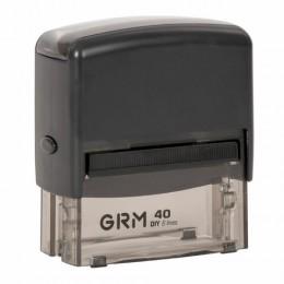 Штамп самонаборный 6-строчный, размер оттиска 59х23 мм, синий без рамки, GRM 40, КАССЫ В КОМПЛЕКТЕ, GRM40