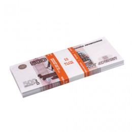 Деньги шуточные 500 рублей, упаковка с европодвесом, AD0000104