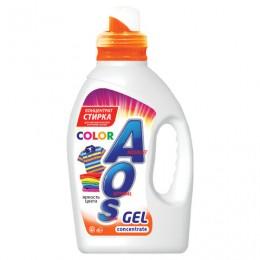 Средство для стирки жидкое автомат 1,3л AOS Color, гель-концентрат, 634-3