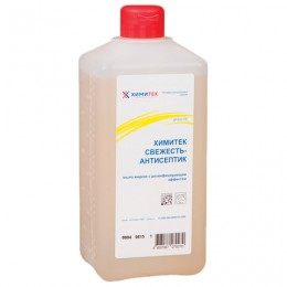 Мыло жидкое дезинфицирующее 1 л, ХИМИТЕК Свежесть-антисептик, смягчающее, пробка, 10505