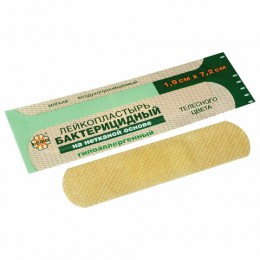 Лейкопластырь бактерицидный LEIKO комплект 1000 шт., 1,9х7,2 см, на нетканой основе, телесного цвета, 213875