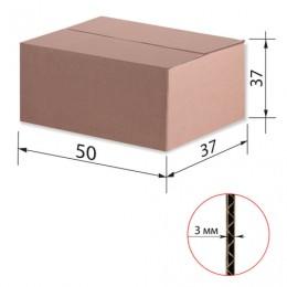 Гофроящик, длина 500 х ширина 370 х высота 370 мм, марка Т22, профиль В, FEFCO 0201 / ГОСТ, исполнение А, 440107