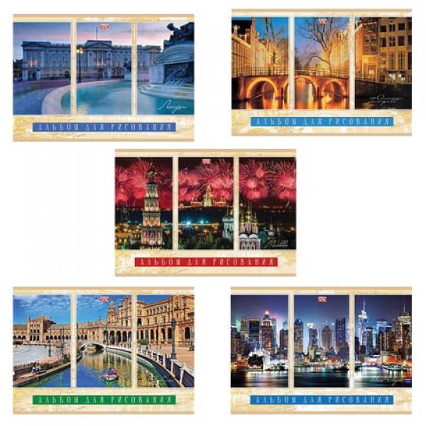 Альбом для рисования, А4, 40 листов, скоба, обложка картон, HATBER VK, 205х290 мм,