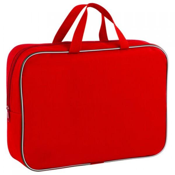 Папка для тетрадей с ручками ПИФАГОР, А4, ширина 80 мм, ткань, молния вокруг, красная, 228374
