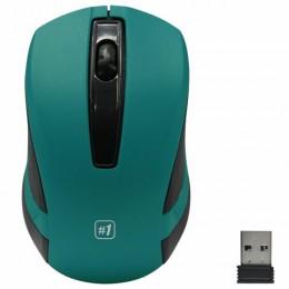 Мышь беспроводная DEFENDER #1 MM-605,USB, 2 кнопки + 1 колесо-кнопка, оптическая, зел, 52607