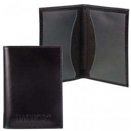 Обложка для паспорта BEFLER Classic, натуральная кожа, тиснение Passport, черная, O.24.-1