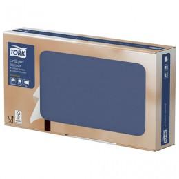 Скатерти бумажные нетканые одноразовые Tork LinStyle Premium, 20 шт., 80х80 см, темно-синие, 474740