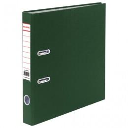 Папка-регистратор BRAUBERG с покрытием из ПВХ, 50 мм, зеленая (удвоенный срок службы), 221816