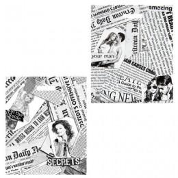 Пакет с вырубной ручкой ПВД, 45х38 см, Газетный микс, 60 мкм, н00057259