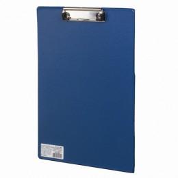 Доска-планшет BRAUBERG Comfort с прижимом А4 (230х350 мм), картон/ПВХ, РОССИЯ, СИНЯЯ, 222659