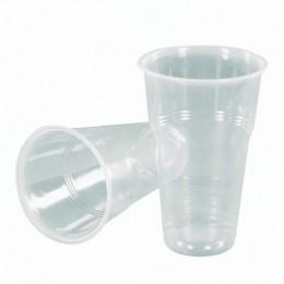 Одноразовые стаканы, комплект 50 шт., 500 мл, полипропилен (ПП), прозрачные, для холодного/горячего, СТИРОЛПЛАСТ