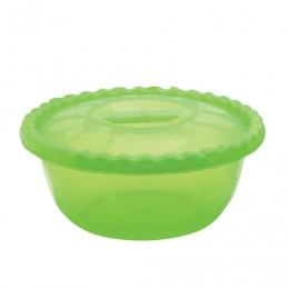 Миска-салатник 3 л, с крышкой, приготовление и хранение, высота 10 см, диаметр 25 см, салатовая/аквамарин, IDEA, М 1316