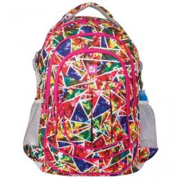 Рюкзак BRAUBERG для старшеклассников/студентов/молодежи, узоры, Абстракция, 26 литров, 45х31х12 см, 226356