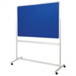 Доска с текстильным покрытием 90x120 см, двусторонняя, на передвижном стенде, OFFICE,