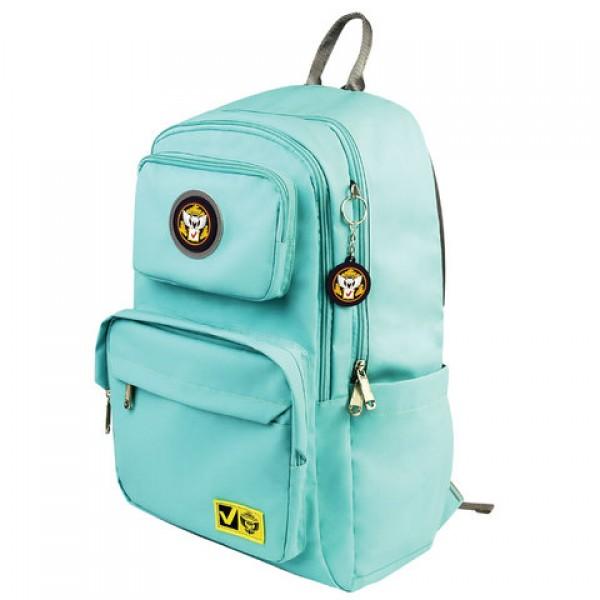 Рюкзак BRAUBERG LIGHT молодежный, с отделением для ноутбука, нагрудный ремешок, мятный, 47х31х13 см, 270298, 227077