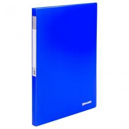 Папка 20 вкладышей BRAUBERG Neon, 16 мм, неоновая, синяя, 700 мкм, 227451
