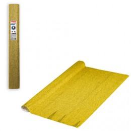 Бумага гофрированная (ИТАЛИЯ) 140г/м, желтое золото (911), 50х250см, BRAUBERG FLORE, 112600