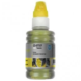 Чернила CACTUS (CS-GT52Y) для СНПЧ HP DeskJet GT 5810/5820, желтые, 0,1 л